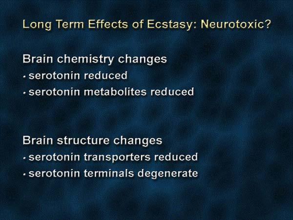 Долговременное воздействие экстази – является ли он нейротоксичным?
